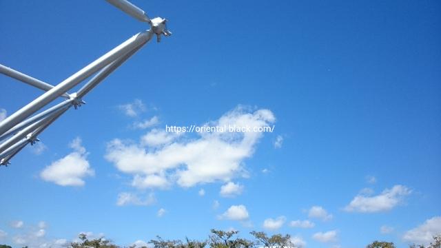 ガレージセール当日快晴の空の画像