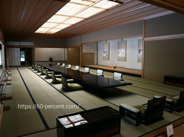 京都迎賓館の晩餐室の画像