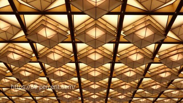 京都迎賓館の天井の画像