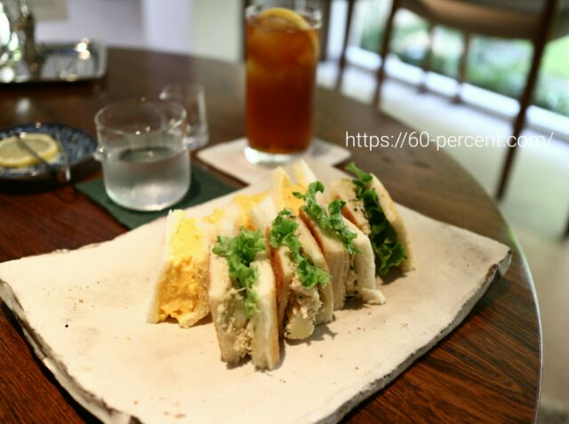 俵屋旅館プロデュース遊形サロン・ド・テのサンドイッチの画像