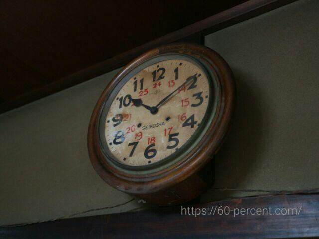 京町屋・藤野家住宅の古い時計の画像