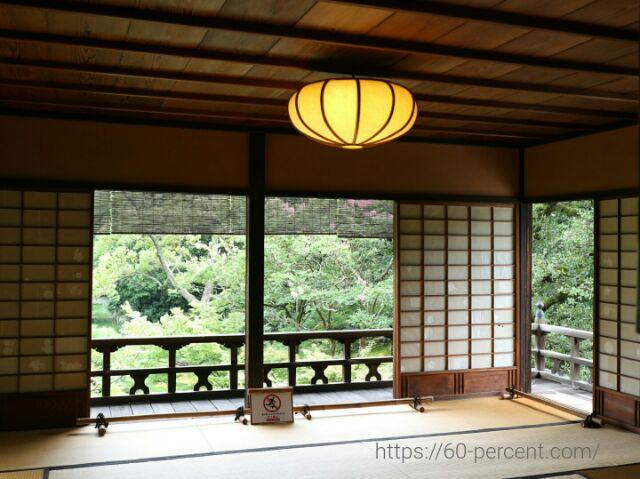 旧九條家庭園(拾翠亭)2階の部屋の画像