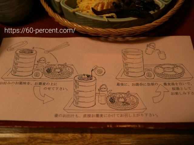 御用蕎麦司 本家尾張屋本店の宝来そば食べ方の画像