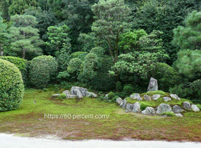 芬陀院の雪舟庭園(鶴亀の庭)の画像