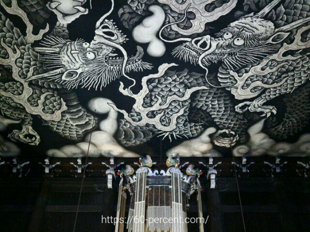 建仁寺の法堂の天井画の双龍図の画像