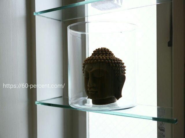 お土産の仏頭のキャンドルの画像