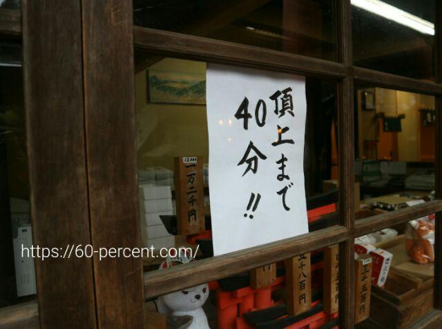 伏見稲荷大社の張り紙の画像