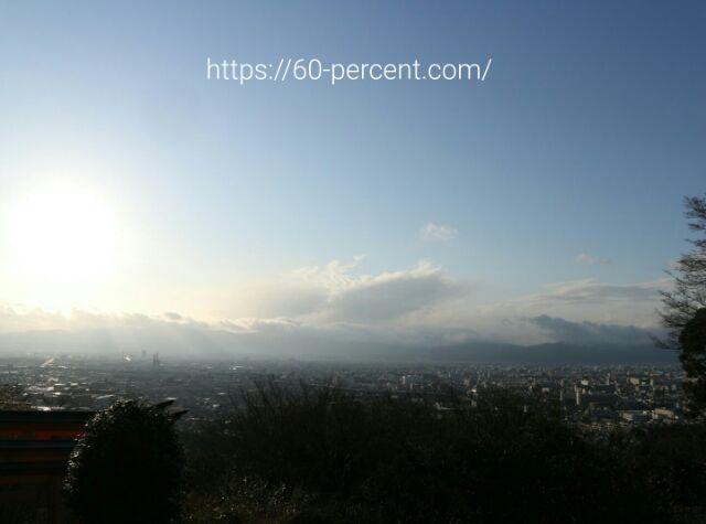伏見稲荷大社の四ツ辻からの眺めの画像