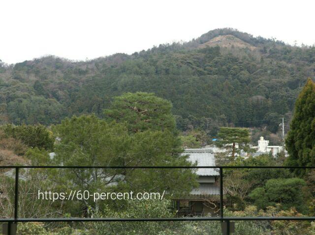 白沙村荘・橋本関雪記念館から見た大文字山の画像