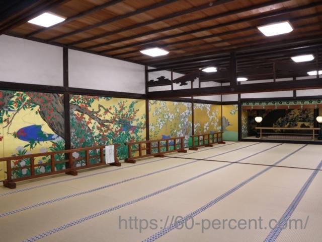 智積院の大書院の『桜図』『楓図』複製の画像