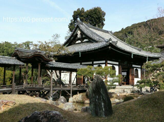 高台寺の開山堂と観月台の画像