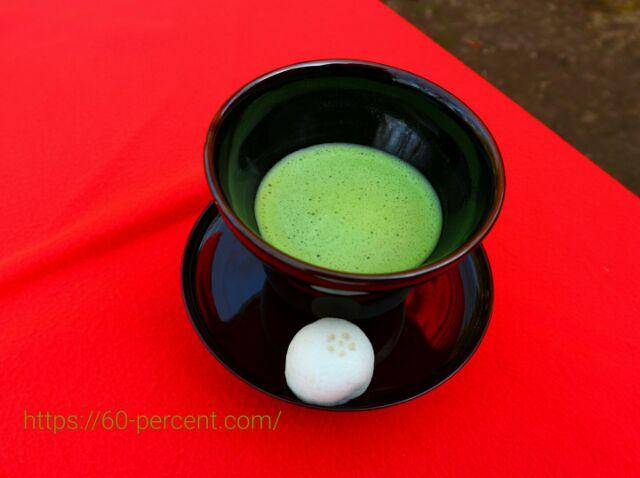 高台寺の雲居庵で頂くお抹茶と和菓子の画像