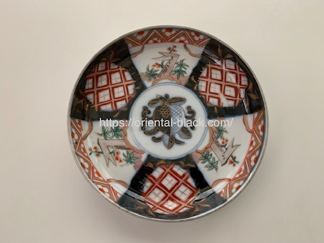 四天王寺骨董市で購入したお皿の画像