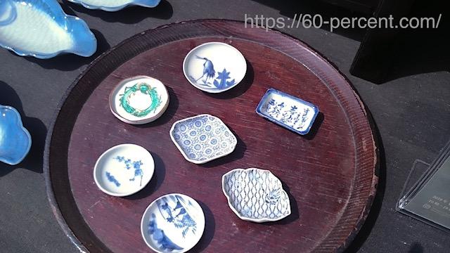 四天王寺骨董市の豆皿の画像