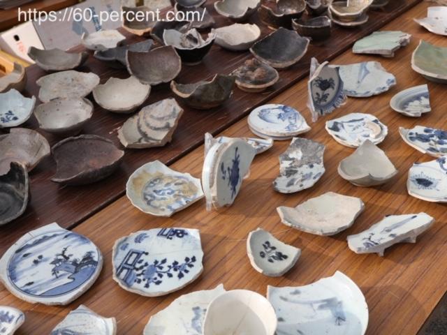 四天王寺骨董市の陶片の画像