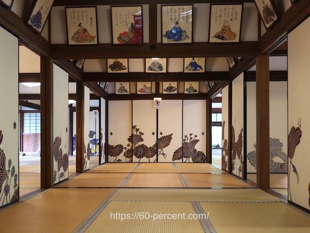 青蓮院門跡の三十六歌仙額絵と木村英輝の襖絵