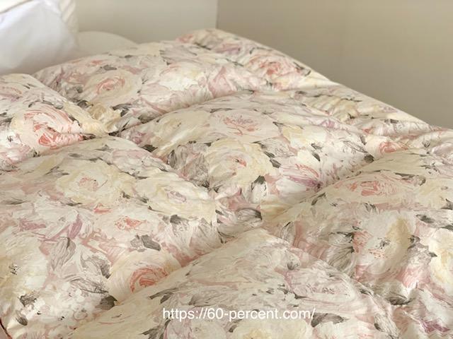 コインランドリーで洗った羽毛布団の画像