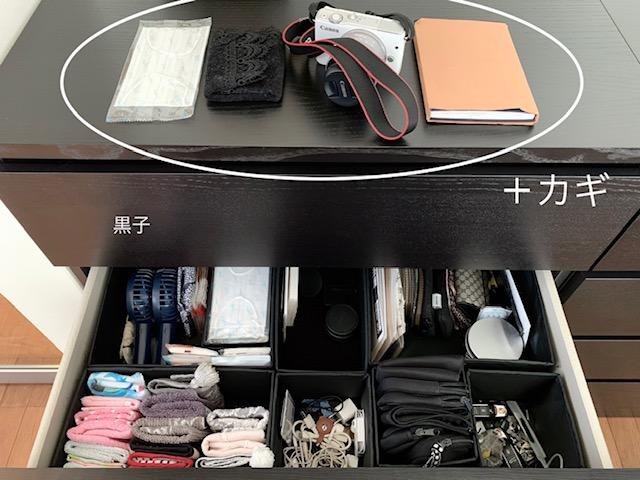 外外出時必要なものをまとめた収納出時必要なものをまとめた収納