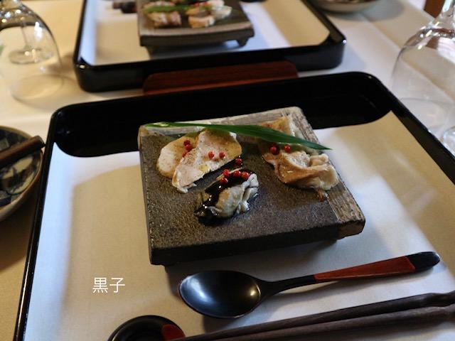 銀閣寺ランチ・聖宙庵の前菜の画像