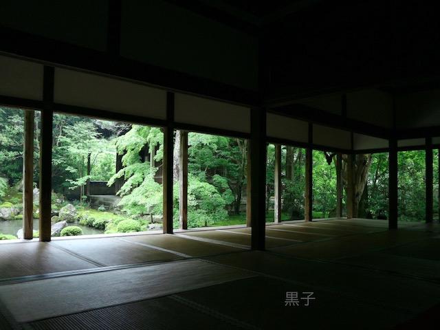 蓮華寺の庭園の画像