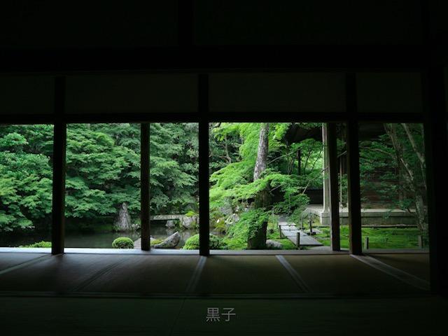 蓮華寺の額縁庭園の画像