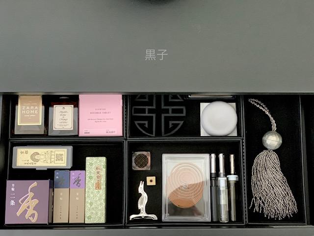 お香とルームフレグランス類の収納の画像