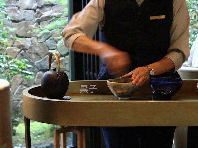アマン京都アフタヌーンティーのお抹茶の画像