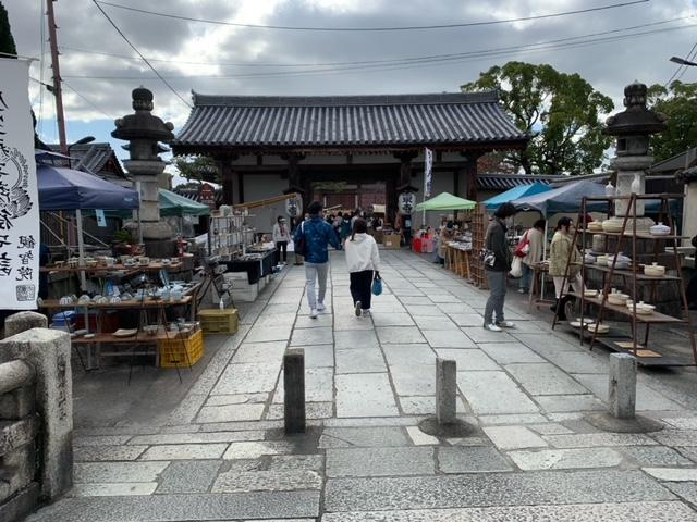 東寺の弘法市(骨董市)の画像