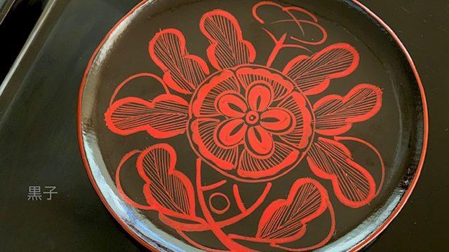 吉野絵(吉野塗)のお皿の画像