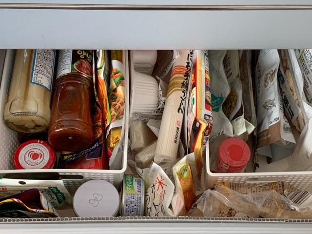 食品ストック収納の画像