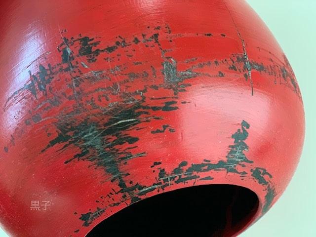 中国のアンティーク風にリメイクした壺の画像