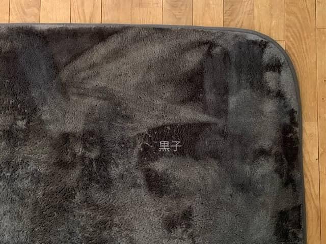 コインランドリーで洗ったニトリのラグの画像