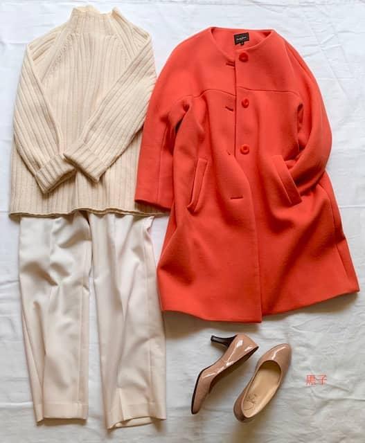 50代の早春の服コーディネートの画像